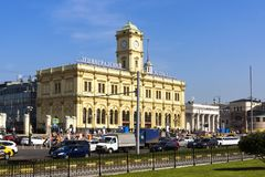 Leningradsky railway station in Moscow Royalty Free Stock Photos