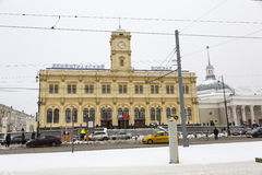 Leningradsky railway station in Moscow Stock Images
