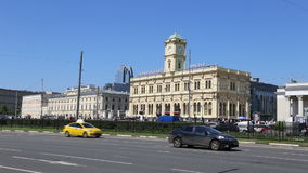 Leningradsky railway station-- is one of the nine main railway stations of Moscow, Russia.  stock footage