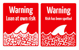 Leningsrisico Stock Afbeeldingen
