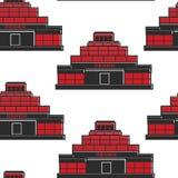 Leninsmausoleum de USSR die naadloze patroonarchitectuur bouwen stock illustratie