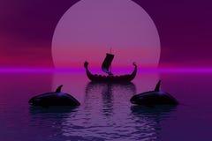 leniwa księżyca Zdjęcie Royalty Free