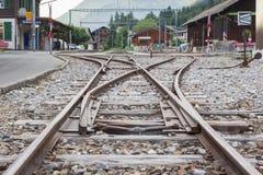 LENK,瑞士- 7月13 :火车站在Lenk,瑞士 免版税库存图片