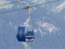 Lenk im Simmental, Switzerland - July 12, 2015: Ski lift in moun Royalty Free Stock Image