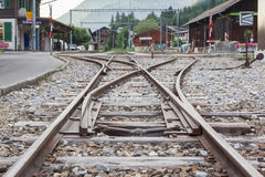 LENK , SWITZERLAND - JULY 13: Trainstation in Lenk, Switzerland. On July 13, 2015 Royalty Free Stock Image