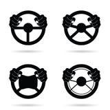 Lenkrad-Ikonenkunstillustration Lizenzfreies Stockbild
