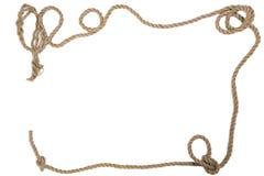 Lenkrad mit einem Seil auf einem weißen Hintergrund Stockbild