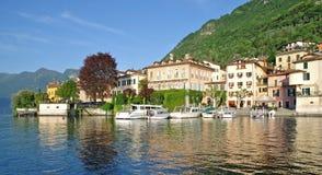 Lenno, lac Como, arrivant voient, l'Italie Photographie stock libre de droits