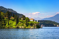 Lenno town and garden, Como Lake district landscape. Italy, Euro Stock Images