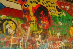 Lennon墙壁 库存照片