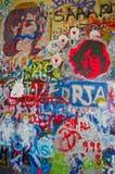 Lennon Praga di john dei graffiti Fotografia Stock