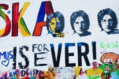 Lennon's wall in Prague Stock Photos