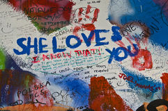 Lennon wall Stock Photography