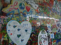 Lennon Wall Stock Foto's