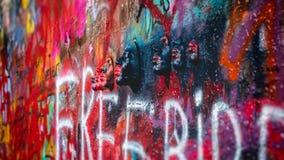 Lennon Wall, Praag stock foto