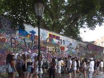Lennon Wall, Praga Imagenes de archivo