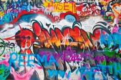 Lennon wall in Prague Stock Photos