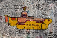 Lennon wall in Prague Stock Image