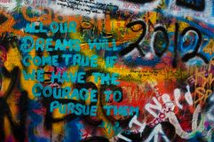 Lennon wall in Prague Royalty Free Stock Photos