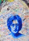 Lennon Wall, Prague Image libre de droits