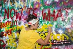 The Lennon Wall Stock Photography