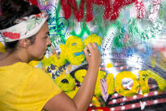 The Lennon Wall Stock Images