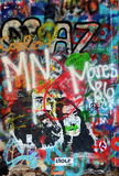 Lennon wall in Prague Royalty Free Stock Photography
