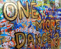 Lennon Wall, Prague. A wall of graffiti, known as the 'Lennon Wall' in Prague, Czech Republic Stock Images