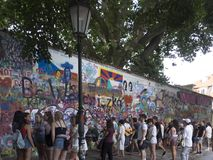 Lennon Wall, Prague Stock Images