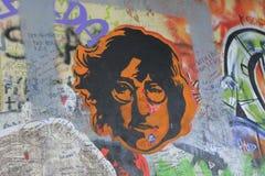 Lennon Wall, PRAGUE, TJECKIEN Fotografering för Bildbyråer