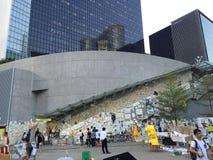 Lennon Wall - rivoluzione dell'ombrello a Ministero della marina, Hong Kong Fotografia Stock Libera da Diritti