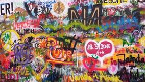 Lennon Wand in Prag Lizenzfreies Stockbild
