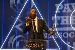Lenny Henryat, den das MOBO zuspricht, Leeds-Arena, Großbritannien Lizenzfreies Stockbild
