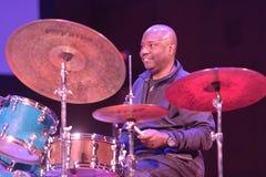 Lenny White pendant le SIB Jazz Fest Image libre de droits