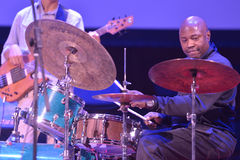 Lenny White during Sib Jazz Fest Royalty Free Stock Images