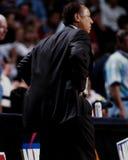 Lenny Wilkens, treinador dos falcões de Atlanta Foto de Stock