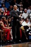 Lenny Wilkens, treinador dos falcões de Atlanta Fotos de Stock
