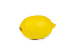 Lenom. The yellow lemon on a white background is isolated Stock Photo