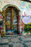 Lennon's wall Prague, Royalty Free Stock Images