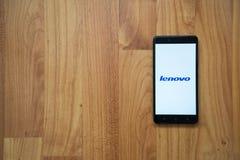 Lenovo στο smartphone Στοκ εικόνα με δικαίωμα ελεύθερης χρήσης