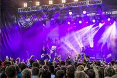 Lenovo vibe fest .Concert of. 01 August 2015.St. Petersburg.Russia.Lenovo vibe fest.Concert of IOWA Stock Images
