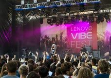 Lenovo vibe fest .Concert of. 01 August 2015.St. Petersburg.Russia.Lenovo vibe fest.Concert of IOWA Royalty Free Stock Image