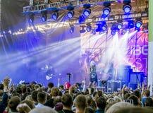 Lenovo vibe fest .Concert of. 01 August 2015.St. Petersburg.Russia.Lenovo vibe fest.Concert of IOWA Stock Photography