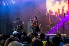 Lenovo vibe fest .Concert of Morchiba.Saint-Petersburg. 01 August 2015.St. Petersburg.Russia.Lenovo vibe fest.Concert of Morchiba Royalty Free Stock Photography
