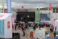 Lenovo vibe fest: Extreme sports, music and technics festival in Novosibirsk, Russia. NOVOSIBISRK - AUG 22, 2015: Lenovo vibe fest: Extreme sports, music and Royalty Free Stock Photography