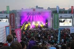 Lenovo vibe fest: Extreme sports, music and technics festival in Novosibirsk, Russia. NOVOSIBISRK - AUG 22, 2015: Lenovo vibe fest: Extreme sports, music and Royalty Free Stock Photos