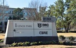 Lenox Bedrijfspark met IMC en CBRE-Bedrijven stock afbeeldingen