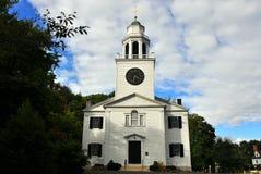 Lenox, mA: Chiesa sulla collina Fotografia Stock
