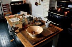 Lenox, mA: Cocina del sótano en el soporte Fotografía de archivo libre de regalías