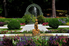 Lenox, MA:  French Garden at The Mount Royalty Free Stock Photos